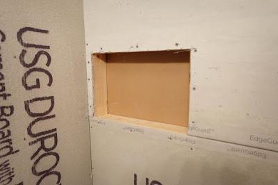 shower niche diy 2x4 framing wall cutout