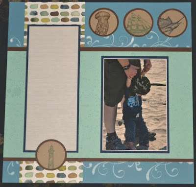 Scrapbook Sunday, Stampin' Up!, Trude Thoman, The Open Sea, From Land to Sea, Stamp with Trude