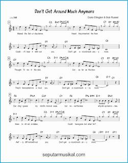 chord don't get around much anymore lagu jazz standar