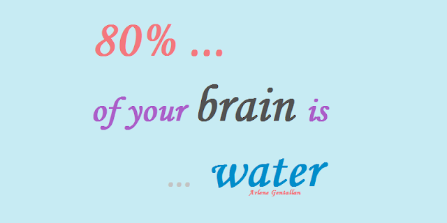 10 Health Facts & Tips: 80% of your brain is water.