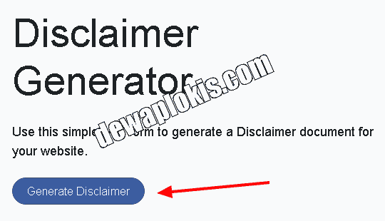 Cara Membuat Halaman Disclaimer Di Blogger