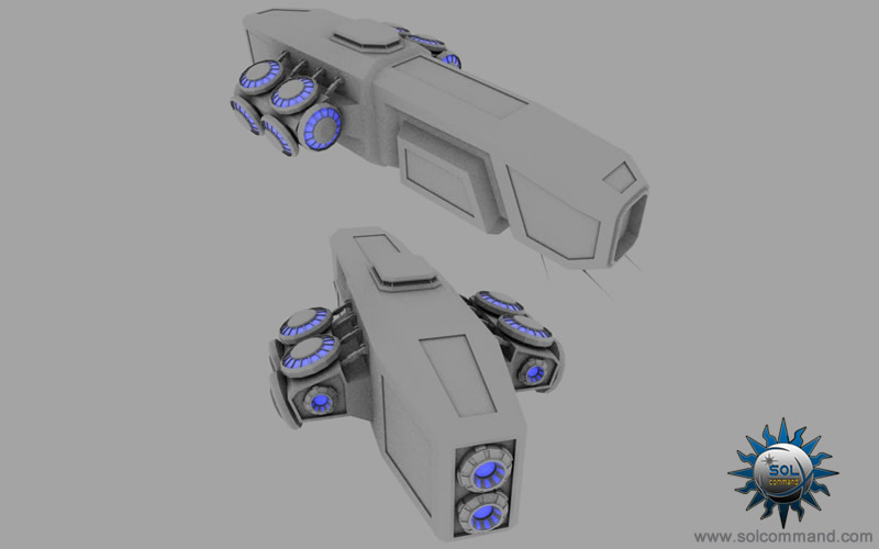 ghost stealth cruiser 3d model free download space ship military scifi army solcommand concept