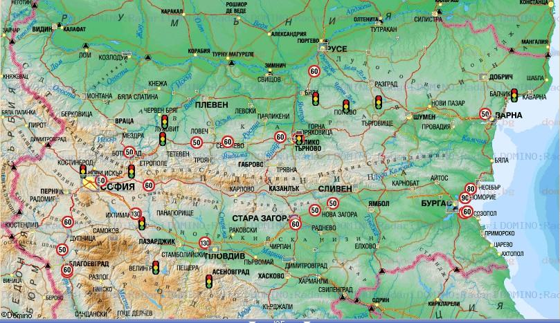 Karta 2019 Karta Na Blgariya S Razstoyaniya