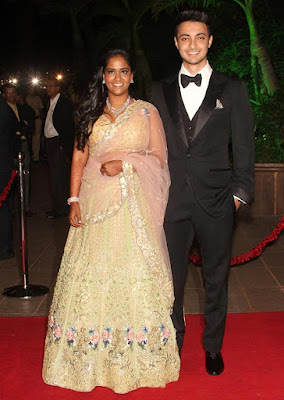Ayush Sharma and Arpita Khan wedding reception
