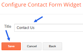 Adding simple contact gadget to blogger