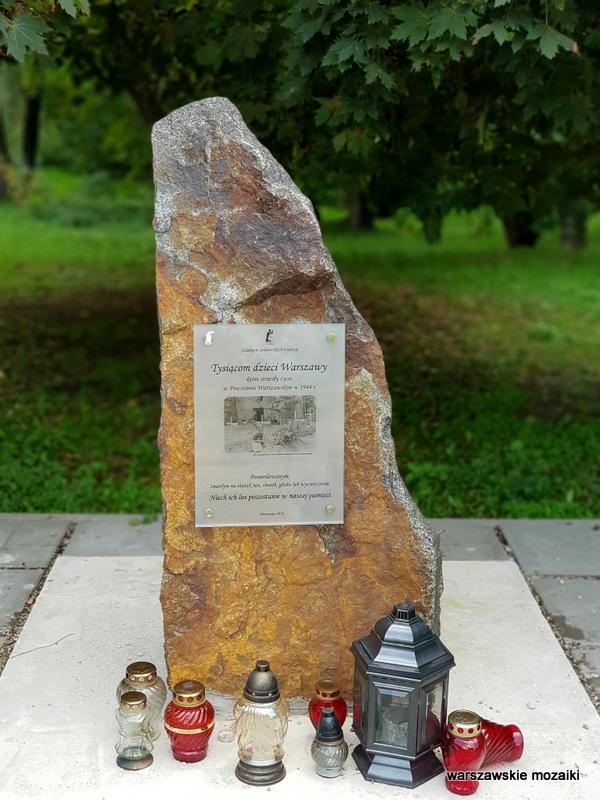 miejsce pamięci Warszawa Warsaw Bielany parki warszawskie teren zielony Ruda