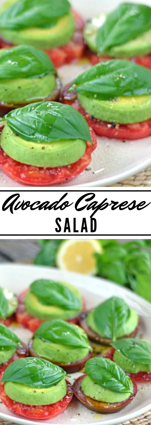 EASY AVOCADO CAPRESE SALAD #easy #avocado #salad #creamy #diet