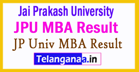Jai Prakash University MBA Result 2017