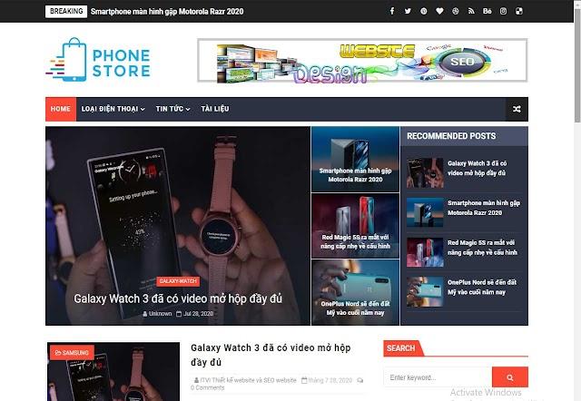 Mẫu website tin công nghệ