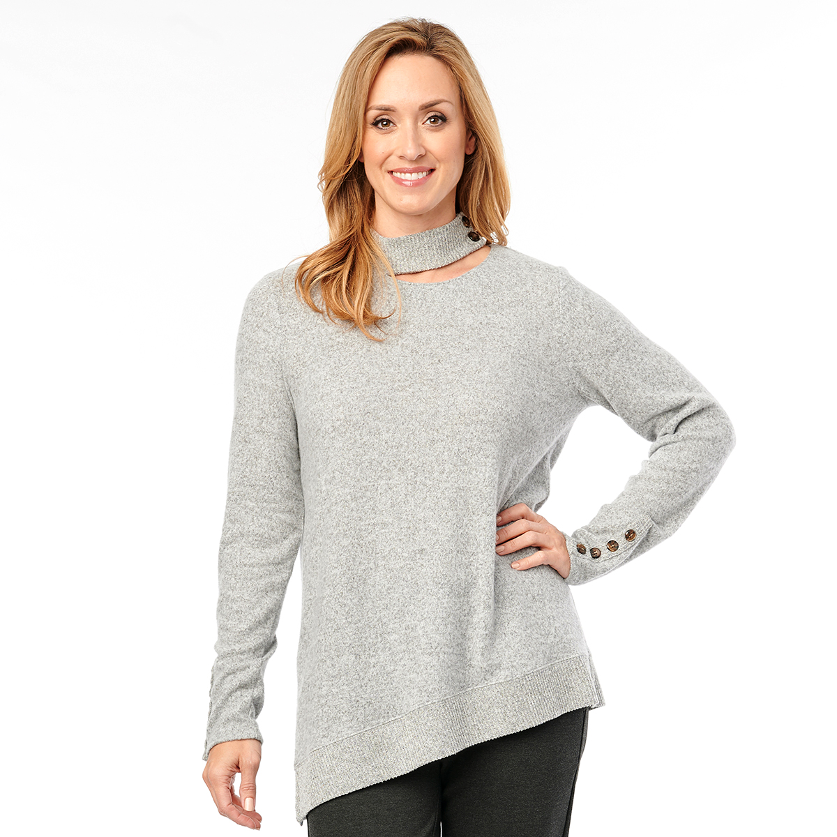 https://www.boscovs.com/shop/prod/democracy-cutout-mock-neck-button-detailed-long-sleeve-sweater/184017.htm