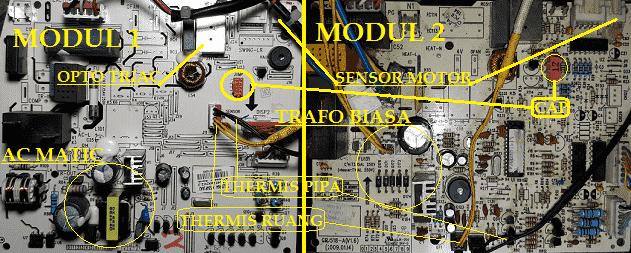 AC SHARP ERROR C5, H6, F1 DAN F2 ~ NASACOMHOMETRONICS