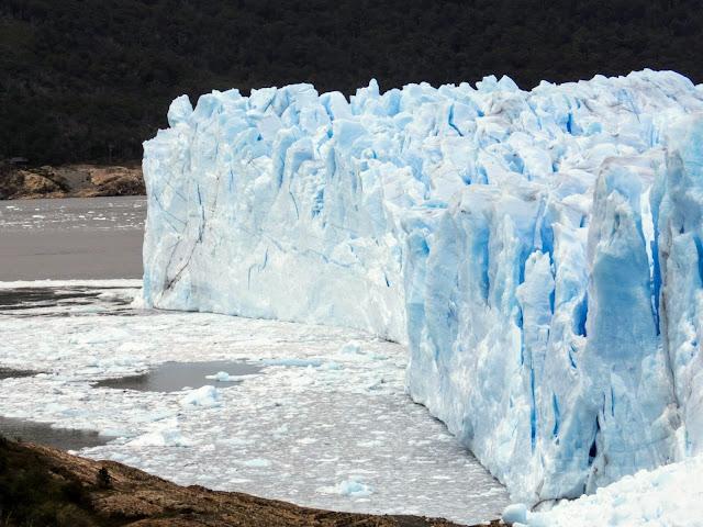 A corner of El Calafate Glacier (Perito Moreno) in Argentina