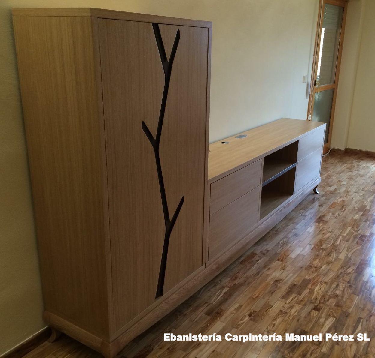 Ebanisteria carpinteria manuel perez zaragoza mueble - Muebles de madera maciza para salon ...