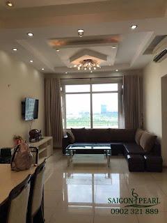 Saigon Pearl Nguyễn Hữu Cảnh - Phòng khách căn hộ cho thuê