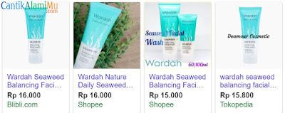 Harga Wardah Seaweed Balancing Facial Wash