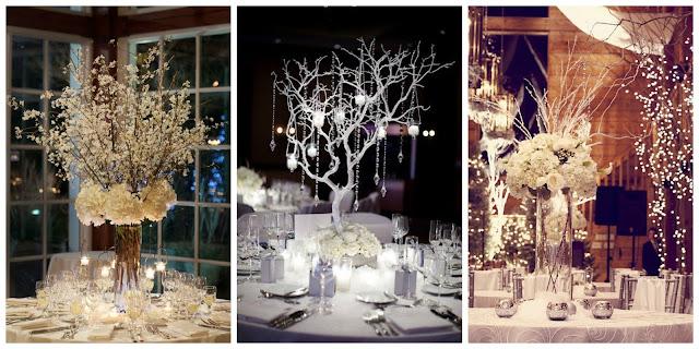 Dekoracja stołów weselnych, Organizacja ślubu i wesela zimą, Zimowe Panny Młode, Zimowe inspiracje na ślub, Zimowy Ślub,