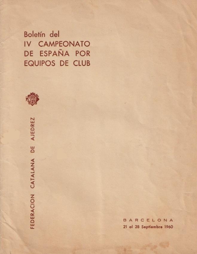 Anverso de la carpeta del IV Campeonato de España por equipos 1960