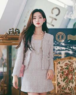 Trang phục vải tweed cho ngày thu