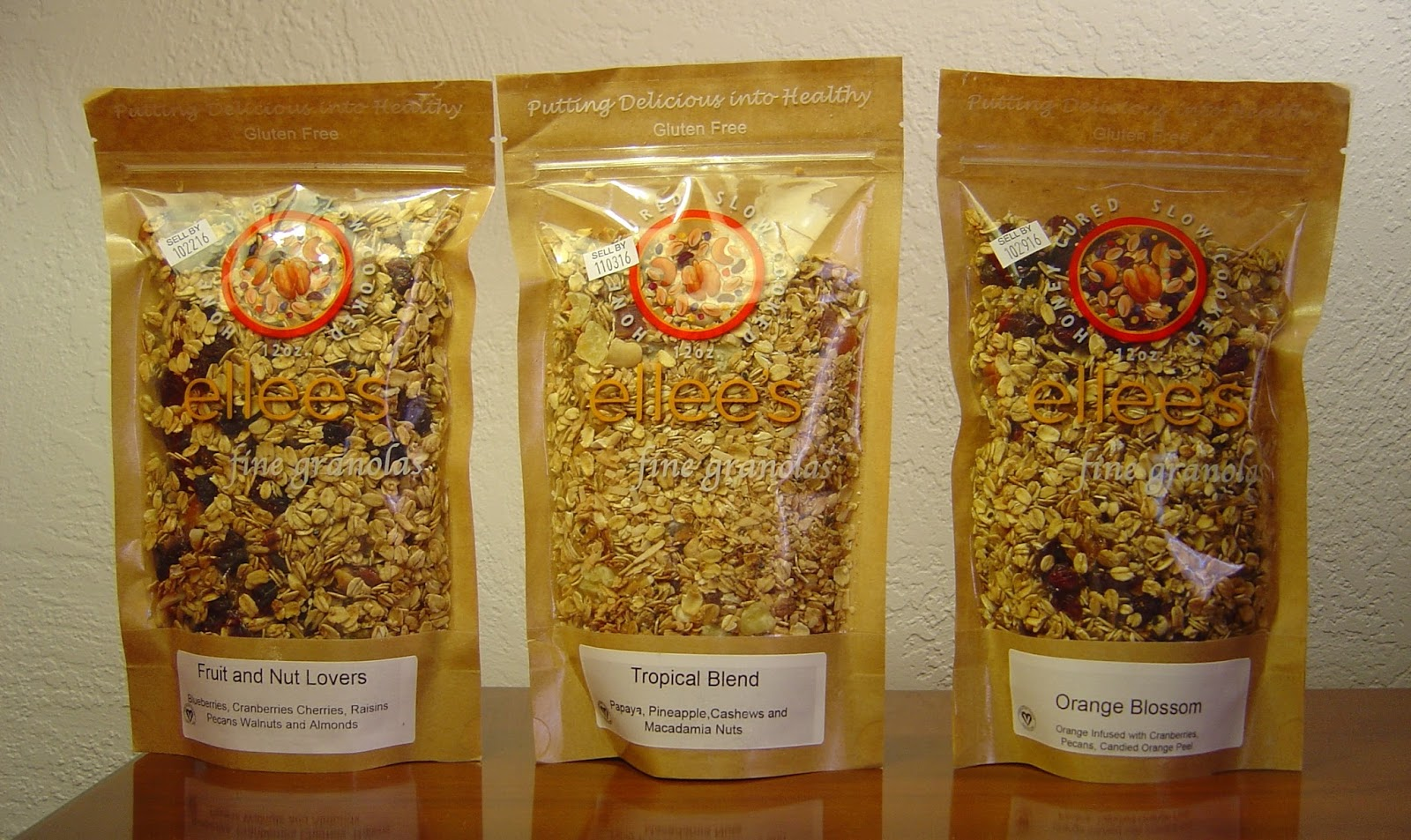 Ellee's Gourmet Granolas (Fruit and Nut Lovers, Tropical Blend and Orange Blossom