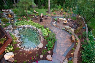 Remarkable Backyard with Oasis