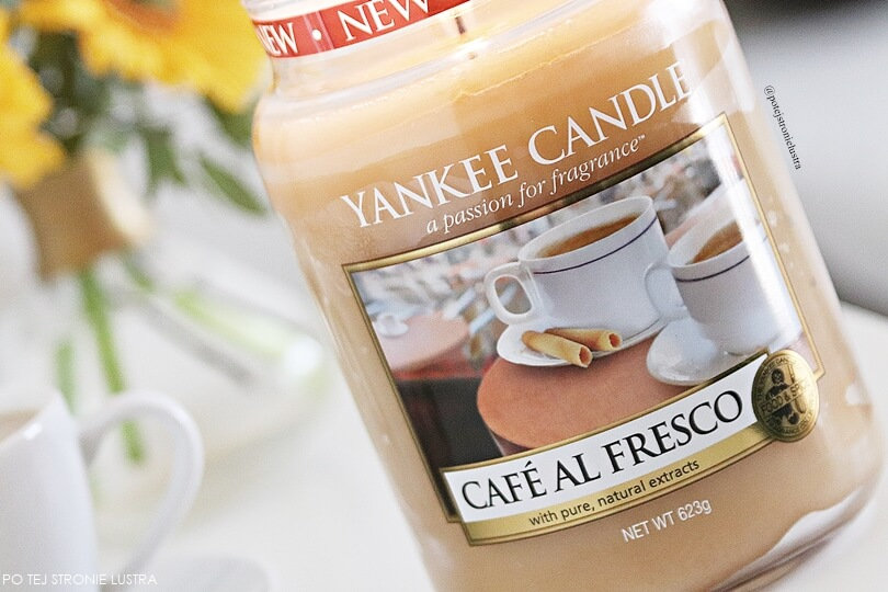 etykieta świecy yankee candle cafe al fresco