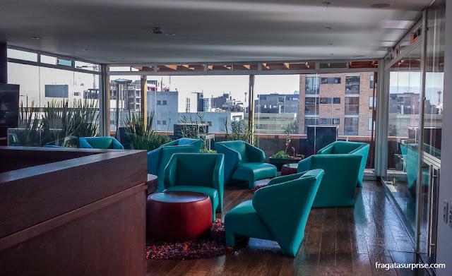 Bar no terraço do Best Western Plus 93 Park Hotel, Chapinero, Bogotá