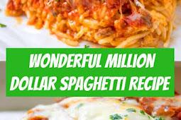 Wonderful Million Dollar Spaghetti Recipe #spaghetti #cheese #homemaderecipes #dinner