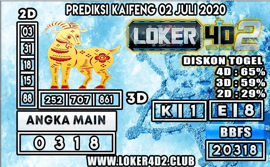 PREDIKSI TOGEL KAIFENG LOKER4D2 02 JULI 2020