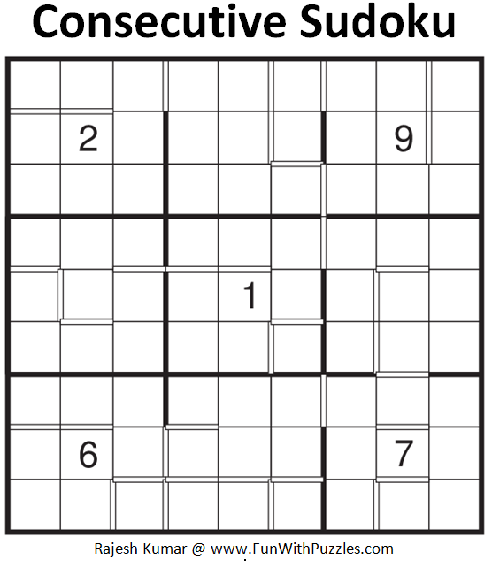 Consecutive Sudoku (Fun With Sudoku #177)