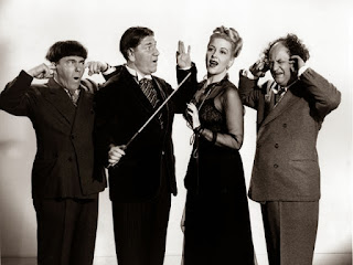 Three Stooges Moe Howard Larry Fine Shemp Christine McIntyre