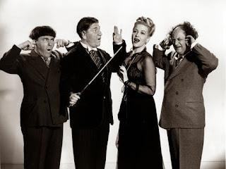 Three Stooges Moe Howard Larry Fine Shemp Christine McIntyre