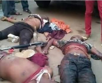 Photos: Former policeman-turned armed robber, EMoney and his gang members gunned down by SARS in Imo State over two months after his wedding