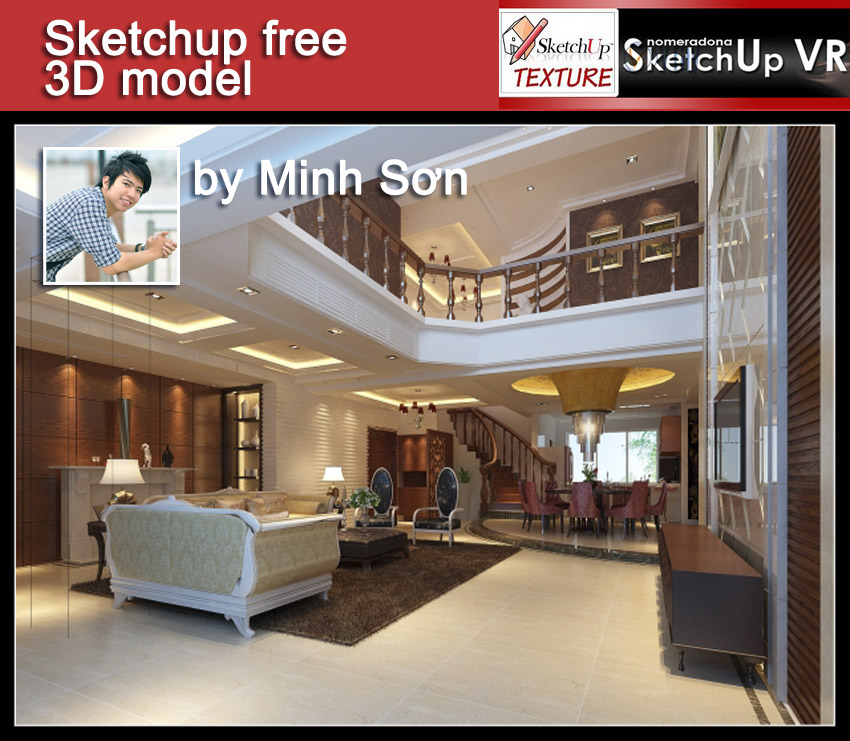 Home Design Software Sketchup: SKETCHUP TEXTURE: SKETCHUP FREE 3D MODEL INTERIOR HOME