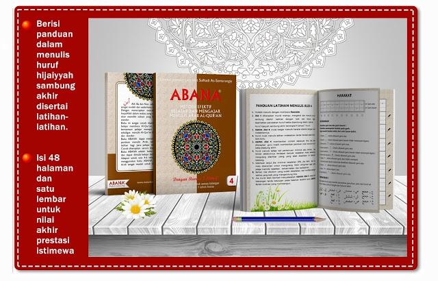 Buku Menulis Khat Arab ABANA [Jilid 4]