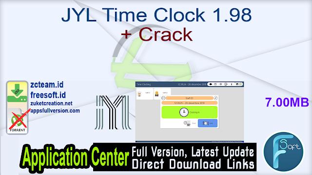 JYL Time Clock 1.98 + Crack