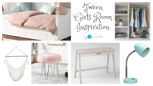 Tween Girls Room Inspiration, MyLove2Create, One Room Challenge Week1