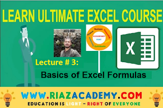 Lecture # 3 Basics of Excel Formulas - Ultimate Excel Course in Urdu