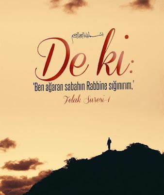 """De ki: """"Ben ağaran sabahın Rabbine sığınırım."""" (Felak Suresi -1, dua, dualarda buluşalım, Kur'an-ı Kerim, gökyüzü, manzara,"""