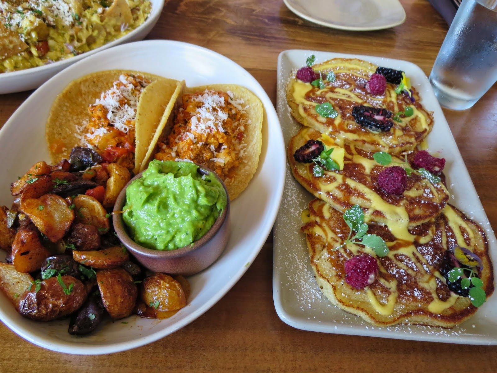 Breakfast tacos and pancakes at Padrecito in San Francisco
