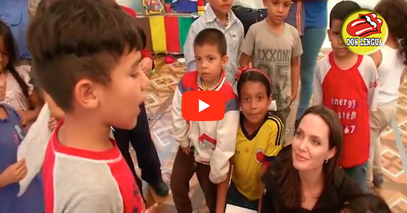Niño venezolano refugiado en Perú le cantó una canción a Angelina Jolie