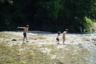水遊びの様子