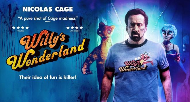 Nicolas Cage en Willy´s Wonderland poster