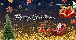 Santa claus coming merry Christmas gift free 3 images