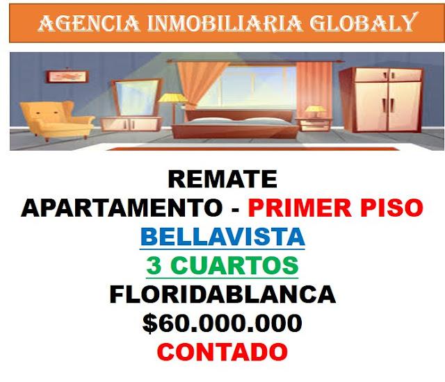 REMATE APARTAMENTO BELLAVISTA FLORIDABLANCA