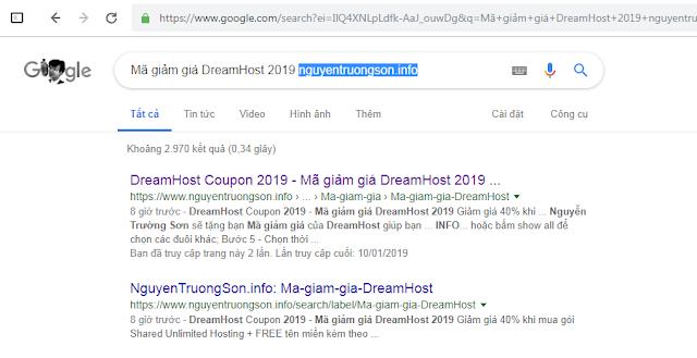 Mã giảm giá DreamHost 2019 nguyentruongson.info