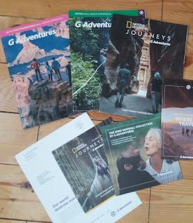 журналы и брошюры от G Adventures National  Geographic