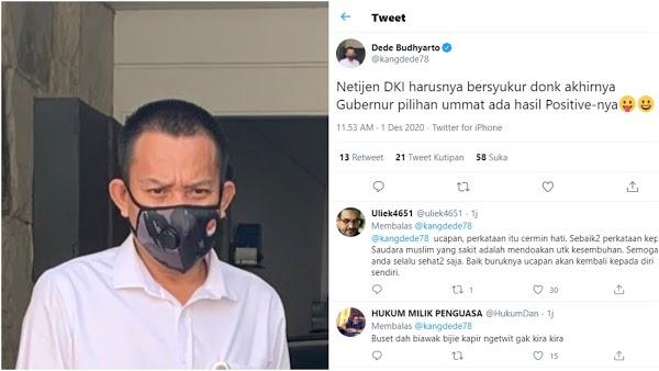 Anies Positif Covid-19, Komisaris BUMN Ini Malah Ajak Warga DKI Bersyukur