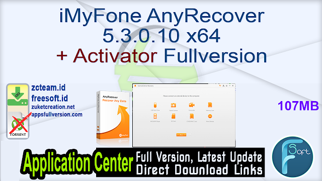 iMyFone AnyRecover 5.3.0.10 x64 + Activator Fullversion