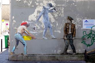Sunday Street Art : Philippe Hérard, Agrume et Levalet - rue Clavel - Paris 19
