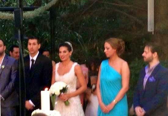 Φωτογραφίες από τον γάμο του Δημήτρη Διαμαντίδη και της Βερίνας Χιώτη